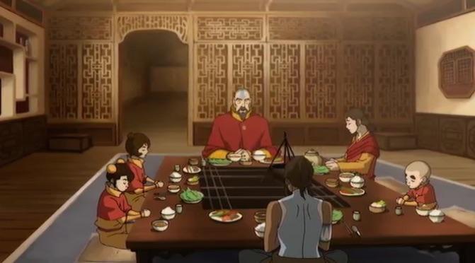 Tenzin's family sits down for dinner