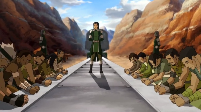 Kuvira captures barbarians in the Earth Empire